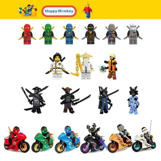 Blocos de Construção Série Mestre Wu NYA Ninjago Garmadon Soldados Clone Figuras Tijolo Compatível com legoingly zk30 do Brinquedo das Crianças