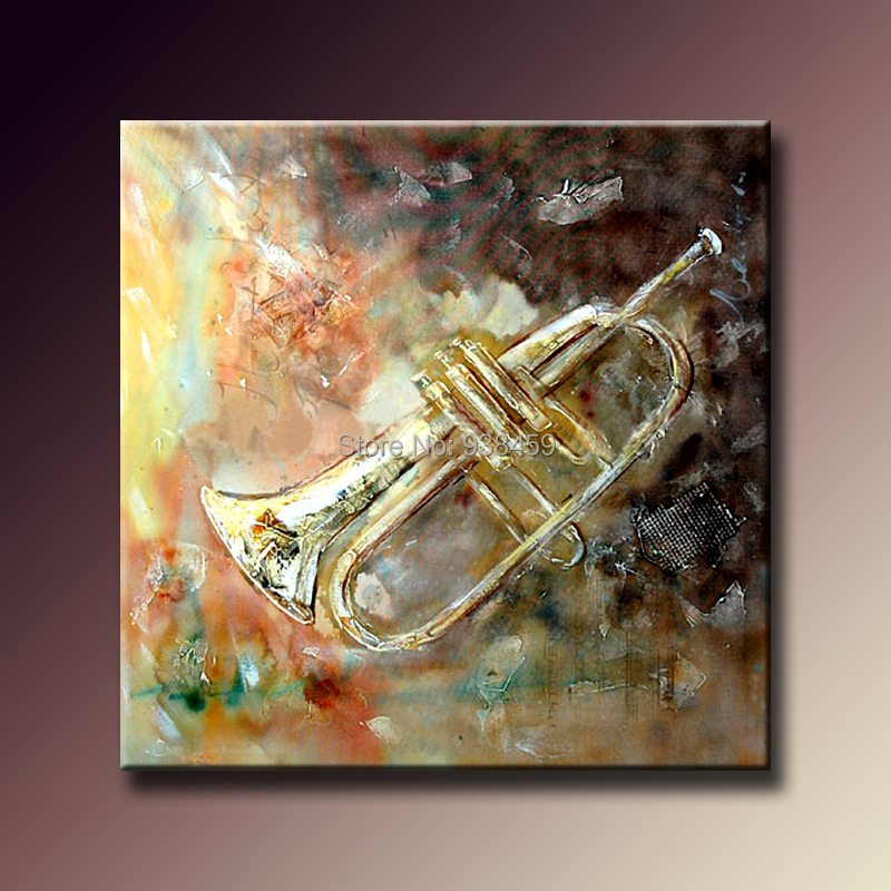 handmade abstract painting musical instrument oil painting free shipping home decoration wall art painting of