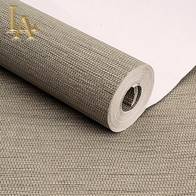 High Quality Simple Modern Home Wallpaper Rolls Sofa Living Room Background Straw Wall Paper Pattern Papel