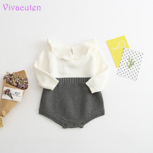2017 Spring Autumn Cute Princess Baby Romper Newborn Baby Clothes Kids Girls Boys Long Sleeve Jumpsuit Infant Knitted Rompers