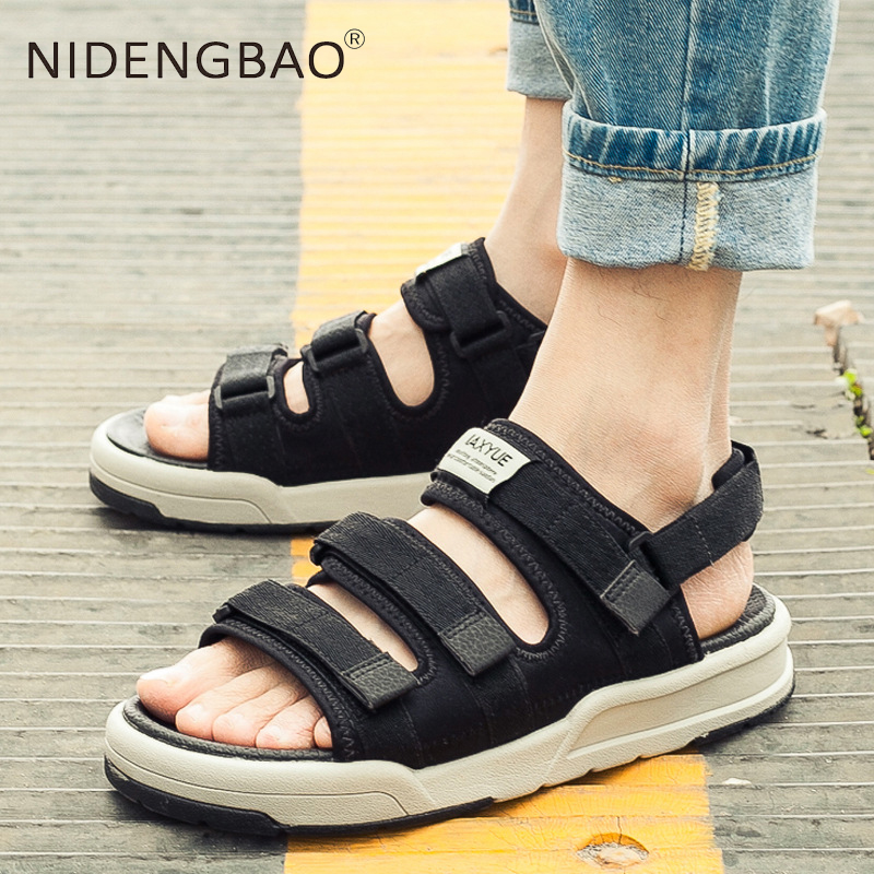 Summer Men/'s Beach Sandals Sport Slippers Casual Breathable Mesh Flip Flop Shoes