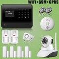 Chuangkesafe Лучшие Продажи GSM GPRS WiFi Сигнализация + Сирена + Сети Ip-камера + Пожарная Сигнализация