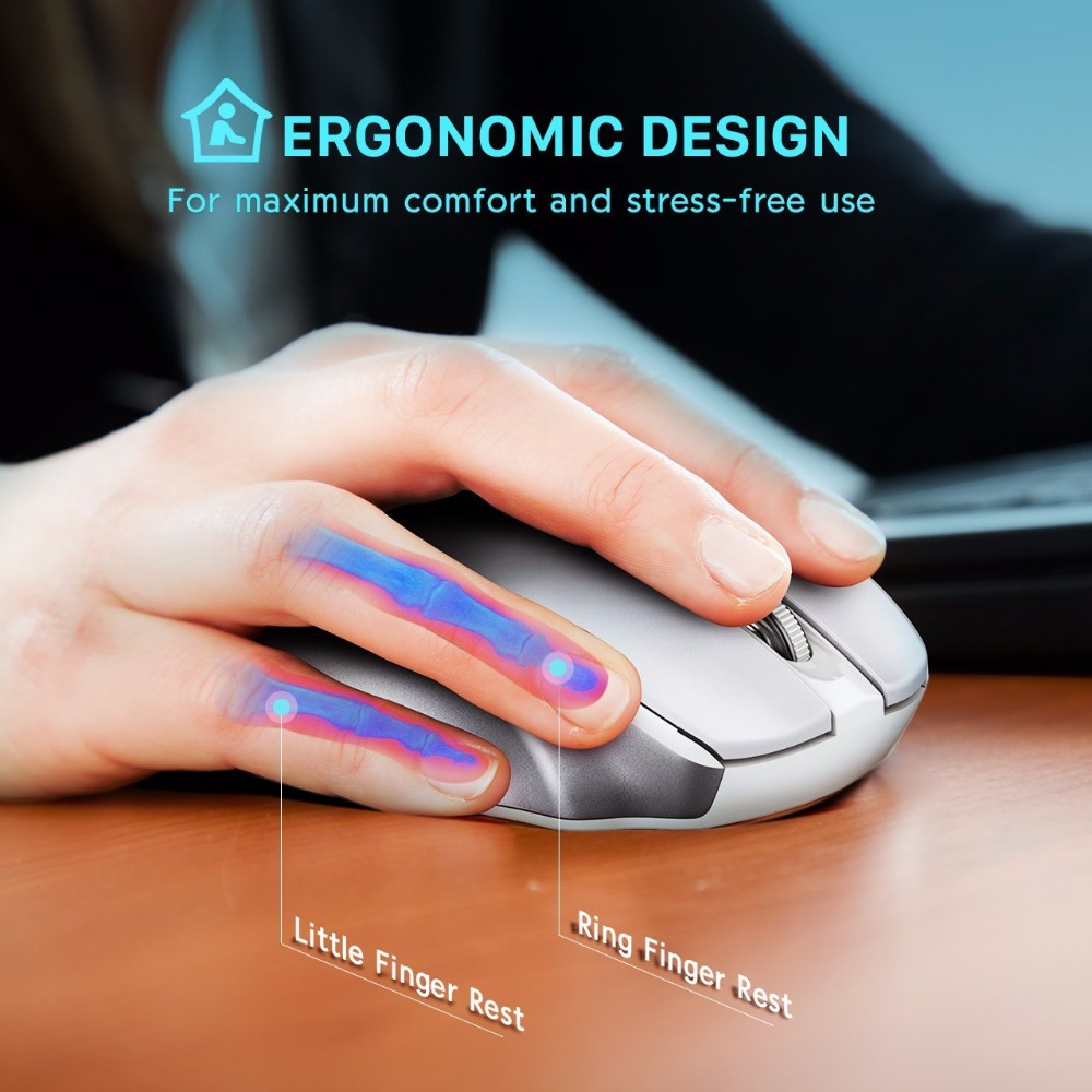 Image 5 - VicTsing 2.4G Wireless Portable Mobile Mouse Optical Mice with USB Receiver 5 Adjustable DPI Level 6 Buttons for  Notebook PC-in Mice from Computer & Office
