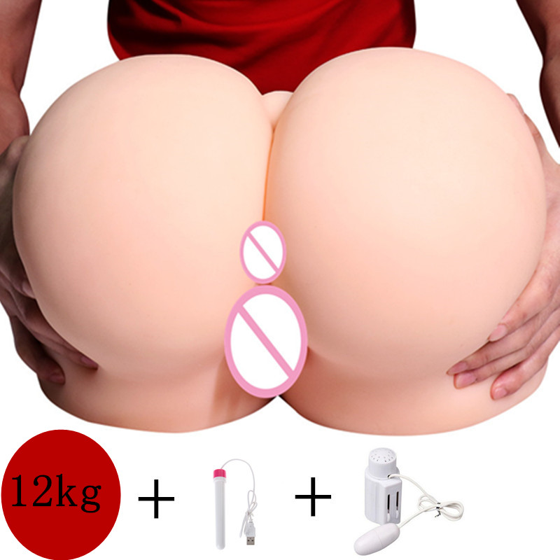 12kg Silicone 1:1 Big ass 3D sex doll Realistic artificial vagina Anal real pussy Pocket Male masturbator Sex Toys for Men12kg Silicone 1:1 Big ass 3D sex doll Realistic artificial vagina Anal real pussy Pocket Male masturbator Sex Toys for Men