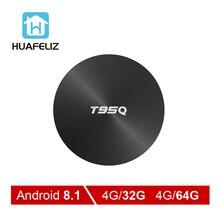 T95Q Android 8,1 ТВ коробка 4 Гб 32 Amlogic S905X2 четырехъядерный 2,4/5,8 Г Wifi BT4.1 1000 м 4 к медиаплеер 4GB64GB Android Smart tv box