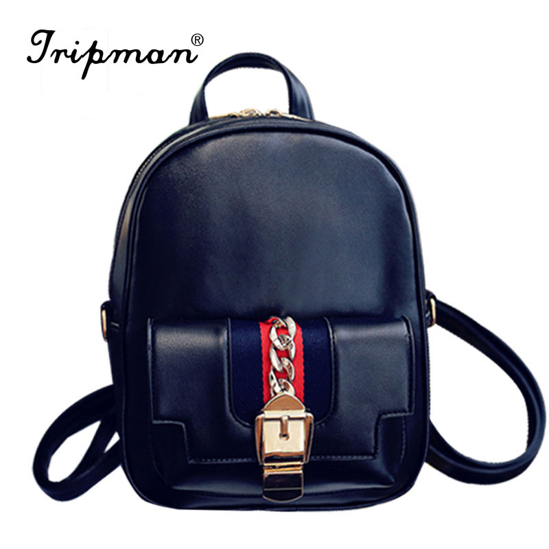 ФОТО 2016 Women Leather Backpack pu Leather Vintage Tassel Fashion Backpack for Girls Preppy Style School Backpack