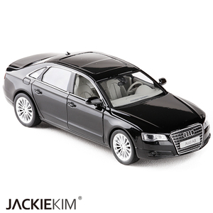 Image 4 - High simulation 1:32 AUDI A8 Alloy Car Model Metal Toy Vehicles With Pull Back Flashing Musical For Kids Toys Free Shipping