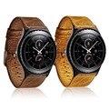 2017 nova retro real premium couro genuíno watch band para samsung gear s3 fronteira/clássico relógio banda com adaptador