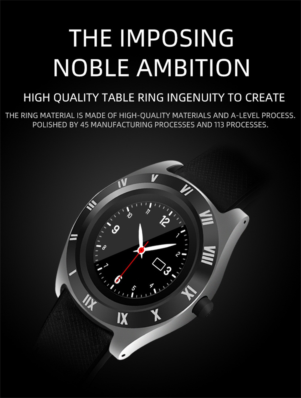Hot Sale] HIPERDEAL Blueteeth Smart Watch Camera Phone Mate 4G GSM