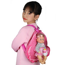 Huang Cheng Toys Doll Bag Carrier for 12-14-16 Inch American 18-inch Girl Portable Storage Backpack Gift