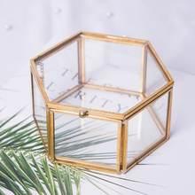 Шкатулка для ювелирных украшений из прозрачного стекла органайзер
