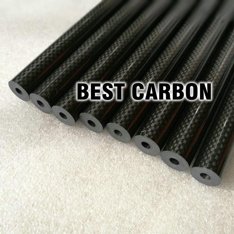 16 มิลลิเมตร x 5.5 มิลลิเมตร x 1000 มิลลิเมตรคุณภาพสูง 3 พันคาร์บอนไฟเบอร์ผ้าธรรมดาแผล/บ๊อกซ์/ ทอหลอดคาร์บอน Tail Boom-ใน ชิ้นส่วนและอุปกรณ์เสริม จาก ของเล่นและงานอดิเรก บน   3
