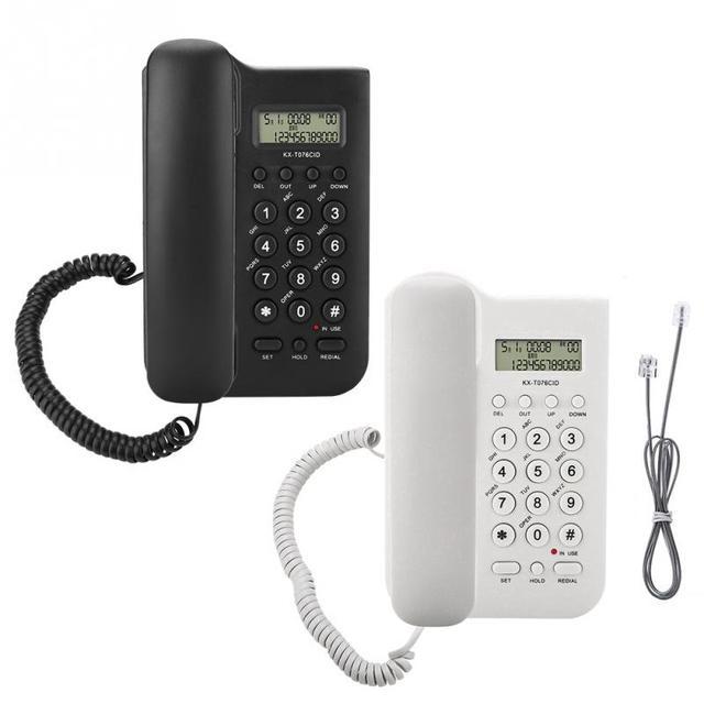 Home Hotel przewodowy stacjonarny telefon ścienny podwójny System FSK/DTMF biuro numeru telefonu stacjonarnego/czas sprawdź szybko ponownego wybierania łatwy w instalacji