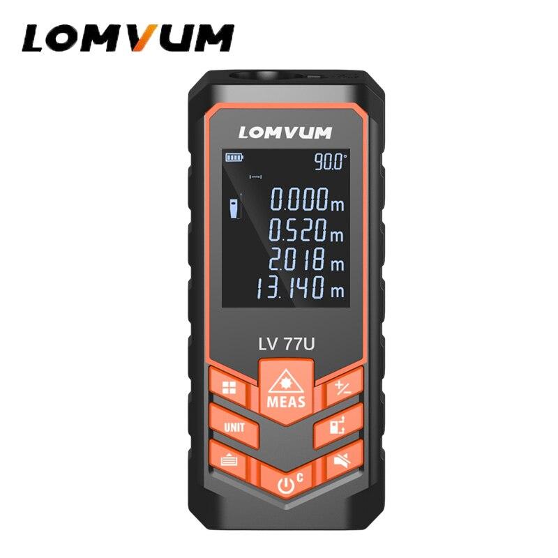 LOMVUM 66/77U Haltegriff Trena Laser Range Finder Jacht Digitale Laser Abstand Meter Elektrische Band Mess Werkzeuge 40 mt -120 mt
