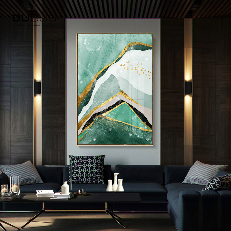 100 Hand Painted Abstract Golden Art Oil Painting On Canvas Wall Art Wall Adornment Pictures Painting For Live Room Home Decor in Painting Calligraphy from Home Garden