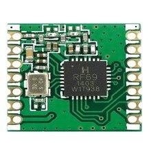10pcs RFM69C RFM69CW 433MHZ 868MHZ 915MHZ GFSK Wireless משדר מודול SX1231 13DBM