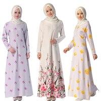 Fashion Design Kaftan Islamic Muslim Abaya Women Chiffon Maxi Long Sleeve Dress 3 Styles