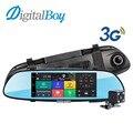 """Digitalboy Зеркало Автомобильный Видеорегистратор 7 """"3 Г GPS WI-FI Зеркало Заднего Вида Video Recorder Bluetooth с Двумя Объективами Android 5.0 1080 P Camcordar Dash Cam"""