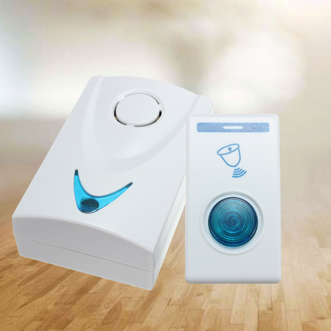 1 pcs led wireless chime door bell gate alarm doorbell