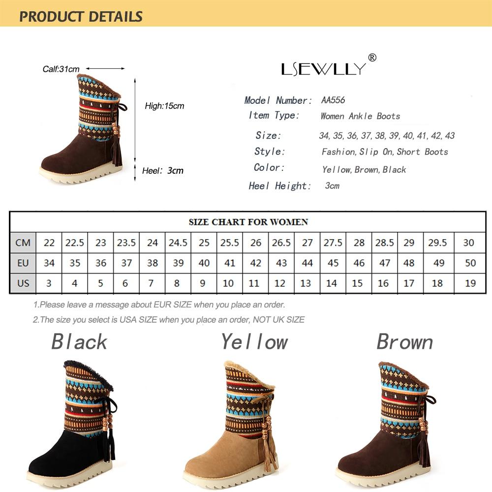 Lsewilly Χειμώνας μπότες γυναικών - Γυναικεία παπούτσια - Φωτογραφία 6