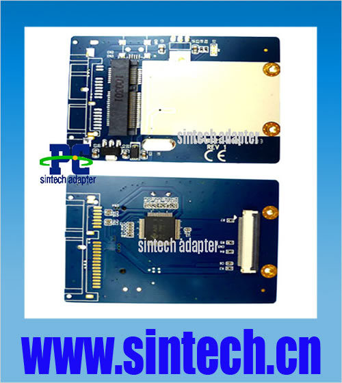 Sintech mSATA mini SATA SSD to 1 8 inch 40pin ZIF Adapter