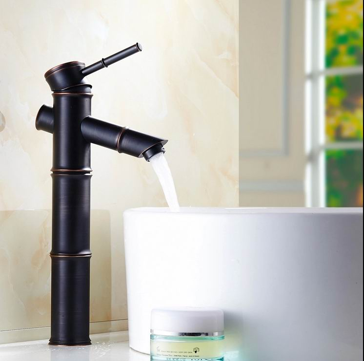 Здесь продается  Free Shipping Contemporary Concise Bathroom Faucet Black Oil Rubbed Brass Basin tap Sink Faucet taps Single Handle Bamboo Style  Строительство и Недвижимость