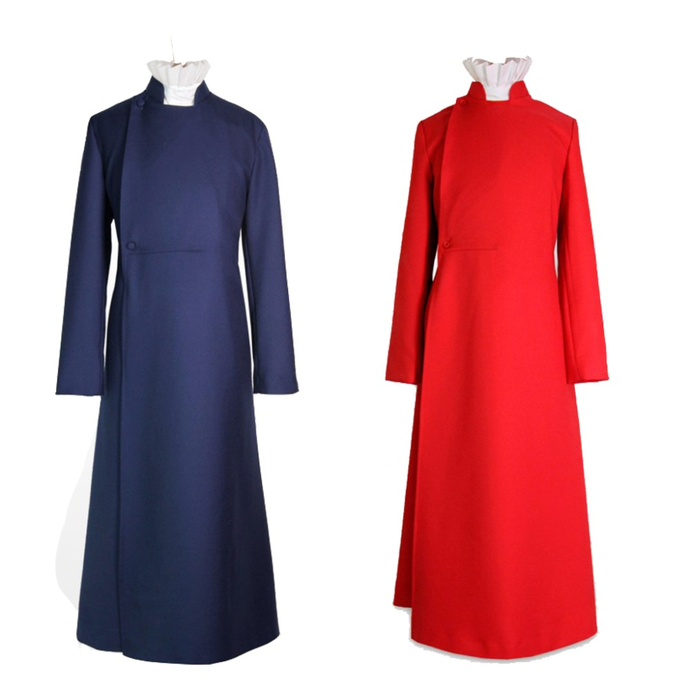 Cosplaydiy Custom Made Child Kids Pure Red Blue Choir Cassock Cosplay Costume Robe Pastors Cassock With Whit Tie L320
