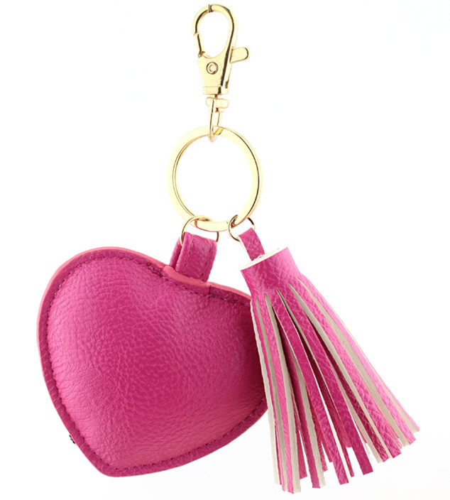30 шт./лот бахрома кружева mujer PU милый мех куницы мультфильм красный розовый сердце ereo брелок assassins creed portachiavi для женщин - Цвет: B