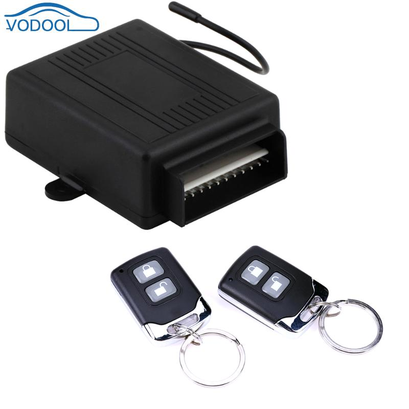 Universal Car Alarm Systems Automobile Remote Central Kit Auto Door Lock Locking 2 Remote Controller Keyless Entry System