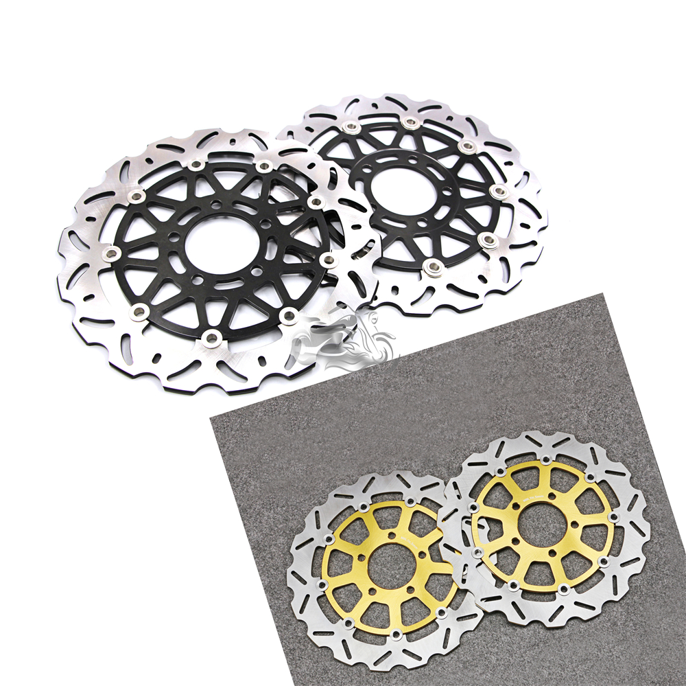 Floating Front Brake Disc Rotor For Motorcycle Suzuki GSX-R600 2004-2005 GSXR750 & GSXR1000 2003-2004 K3 K4 New motorcycle part front rear brake disc rotor for yamaha yzf r6 2003 2004 2005 yzfr6 03 04 05 black color
