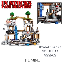 Lepin Minecraft 18011 922pcs My World The Mine Building Blocks Bricks anime action Figures educational font