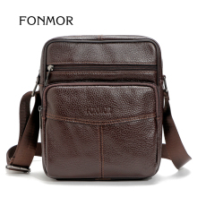 FONMOR Brand Multifarious Zipper Men Bags Genuine Leather Shoulder Messenger bag Vintage Travelling Small bags