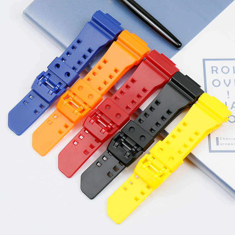 Strap accessories resin strap for Casio <font><b>G</b></font> <font><b>SHOCK</b></font> GA-400-1 GBA-400 sports men's waterproof rubber strap women watch band image
