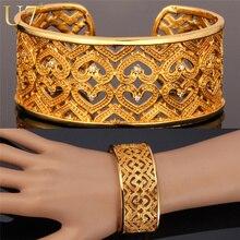 U7 modelo del corazón brazalete pulsera de oro plateado zirconia joyería romántica regalo de las mujeres ronda brazalete de la pulsera h579