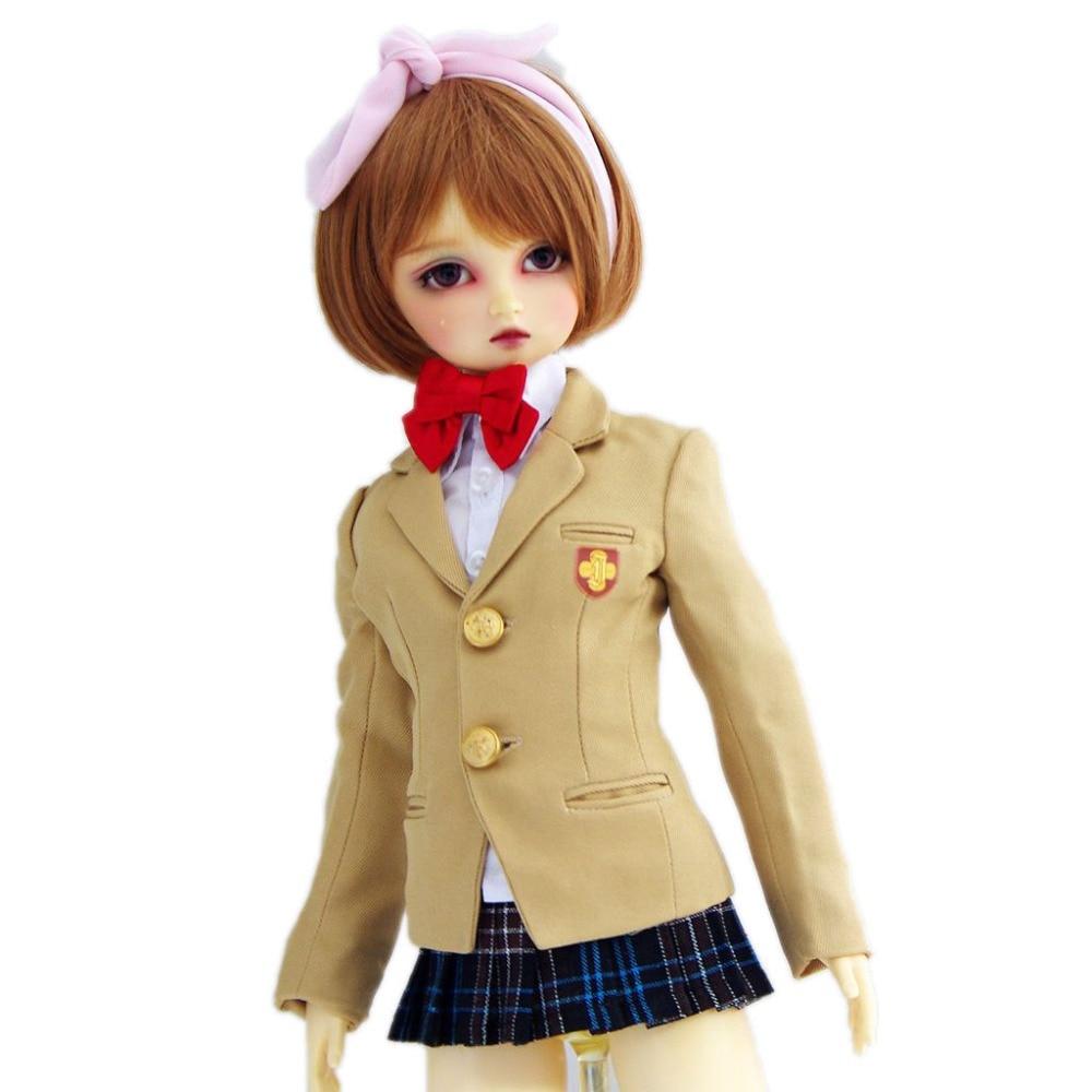 [wamami] 300#Animation Railgun Misaka Mikoto School Uniform/Suit 1/3 SD BJD AOD DOD Dollfie [wamami] 251 blue school uniform suit for 1 3 sd aod dod bjd doll dollfie