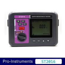 Cheapest prices ST2016 4 pole digital earth resistance tester soil electric resistivity meter