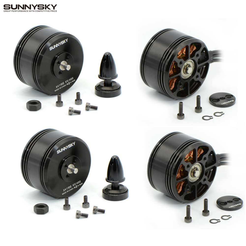 4pcs lot SUNNYSKY X4110S 340KV 400KV Brushless Disc Motor for Multi rotor Aircraft multi axis motor