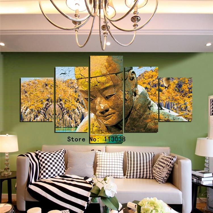 alta calidad nuevo diseo estatua de piedra pintura de paisaje unidades en un juego en casa decoracin de la pared cuadros env