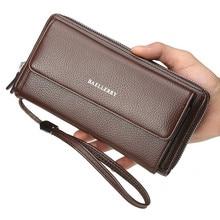 High Quality Men Wallet Slim Pu Leather Purse Card Holder Durable Male Long Cartera Hombre Billetera