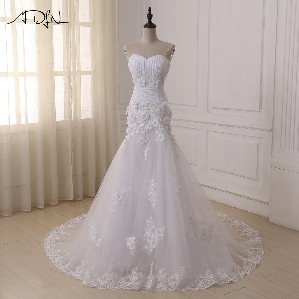 ADLN Custom Made grezns Croset Bodice mežģīņu augstākās kvalitātes mermaid kāzu kleita Lace kāzu kleita sirēna kāzu kleitas