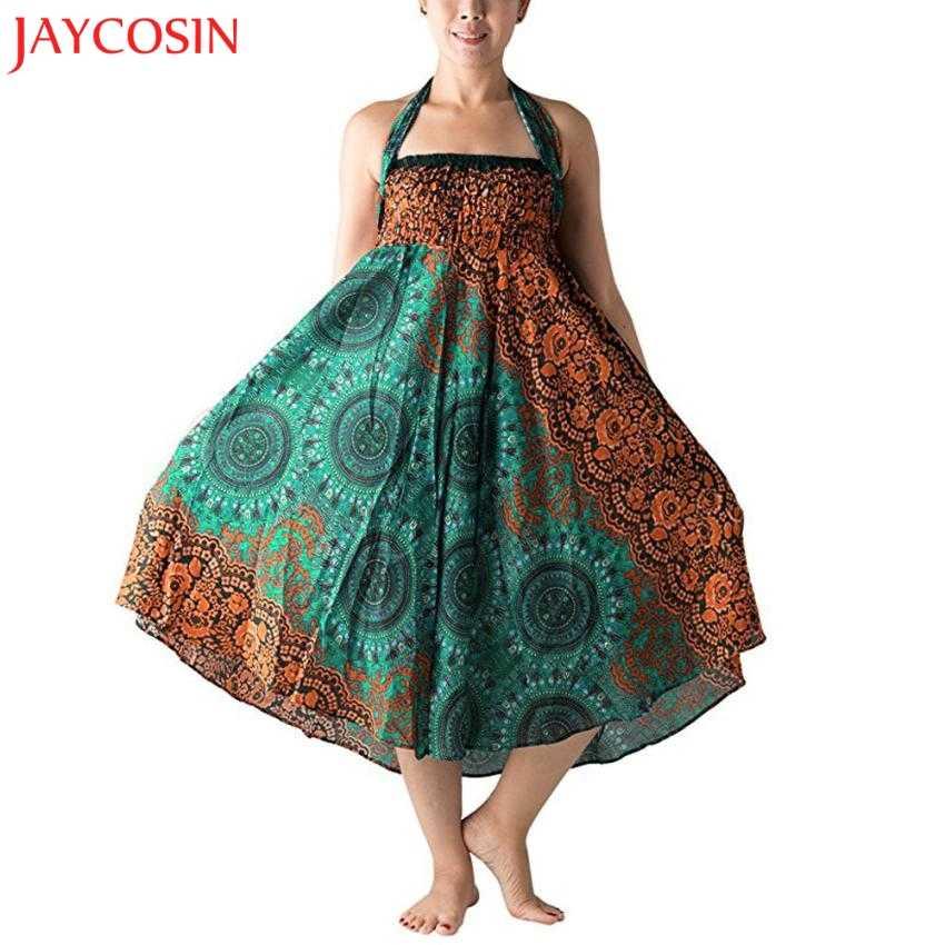 JAYCOSIN mujeres largo Hippie bohemio gitano Boho flores elástico Floral Hlater falda z0815 #