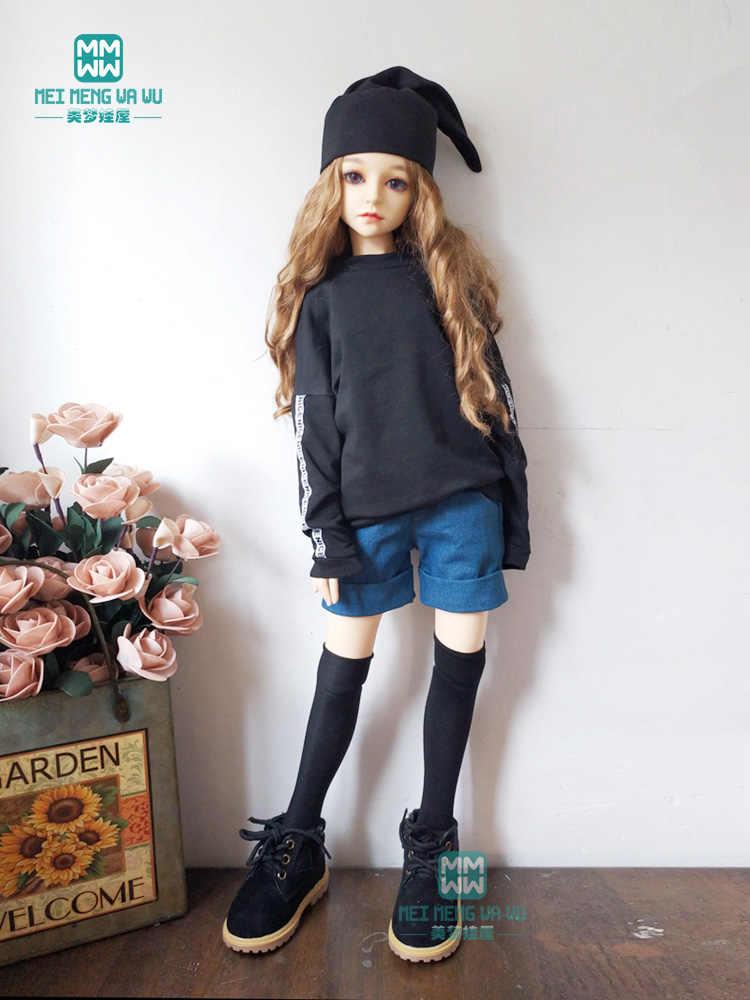 BJD accessoires poppenkleertjes past 60 cm 1/3 BJD SD pop mode wit casual sweatshirt denim shorts