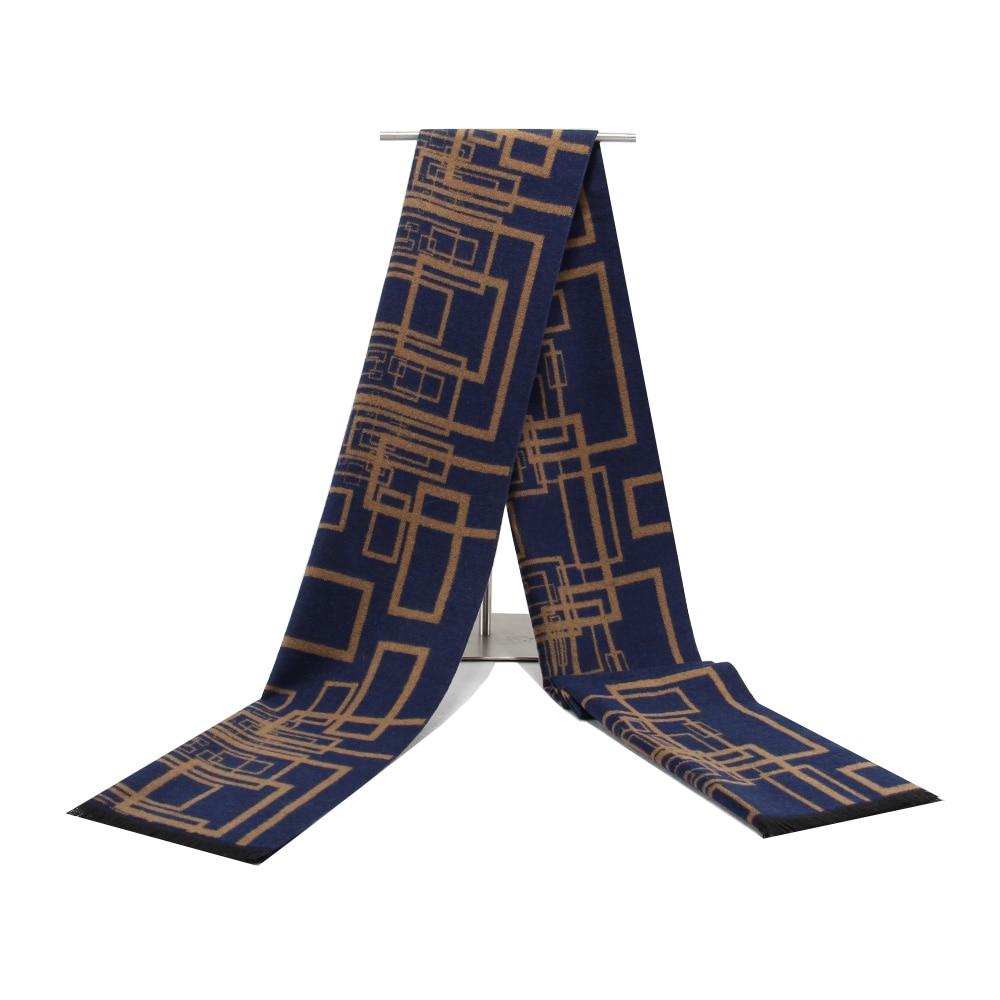 Men Scarf Luxury Brand Designer Men Classic Cashmere Geometric Scarf Winter Warm Soft Tassel Fashion Shawl Wrap Scarf