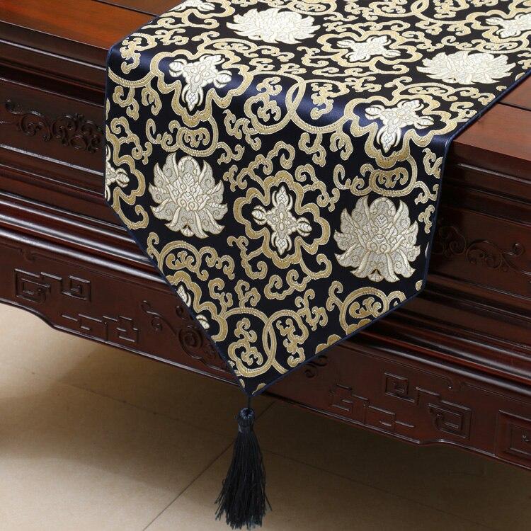Luxury Floral Chinese Silk Table Runner Wedding Wedding Rectangle - Տնային տեքստիլ - Լուսանկար 5