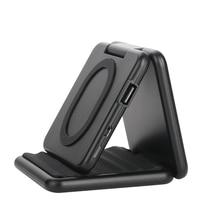 A600 Qi Wireless Charger Foldable Mobile Phone Stand Vertical Wireless Mobile Power Bank Wireless Charging Treasure стоимость