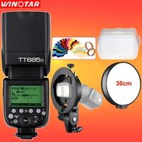 Godox TT685 TT685C 2.4G Draadloze HSS 1/8000 s TTL Camera Flash Speedlite + Bowens S-type beugel voor Canon Dslr-camera