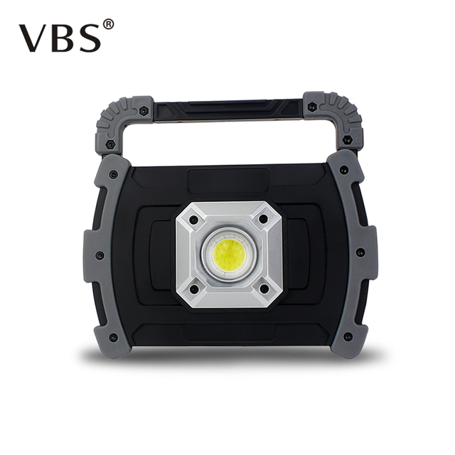USB Rechargeable 20W Portable Spotlights LED Light Waterproof Outdoor Emergency COB Searchlight Vehicle Maintenance Camping Lamp