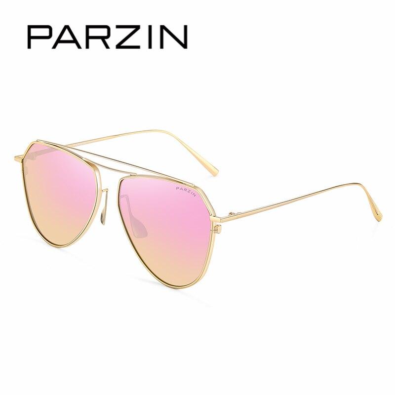 PARZIN Marke Vintage Pilot Sonnenbrille Qualität Luxus Legierung Rahmen Gläser Polarisierte Sonnenbrille Für Fahrer Sommer Zubehör 9735 - 3