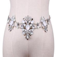 Women Crystal Rhinestone Bling Statement Body Waist Chain Belt Clubwear