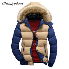 Bumpybeast Asia size 4XL Jacket Men's Parkas Thick Hooded Coats Men Thermal Warm Casual Jackets Male Outerwear Brand Clothing